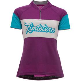 Zimtstern Benitaz Kortærmet cykeltrøje Damer pink/blå